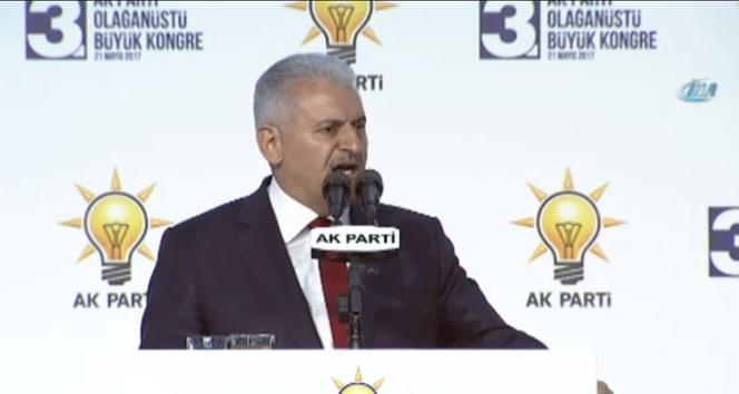 Başbakan Yıldırım'dan kongreye damga vuran sözler