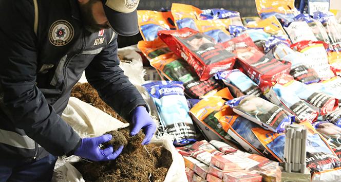 1 milyon değerinde kaçak tütün ve malzemesi ele geçirildi