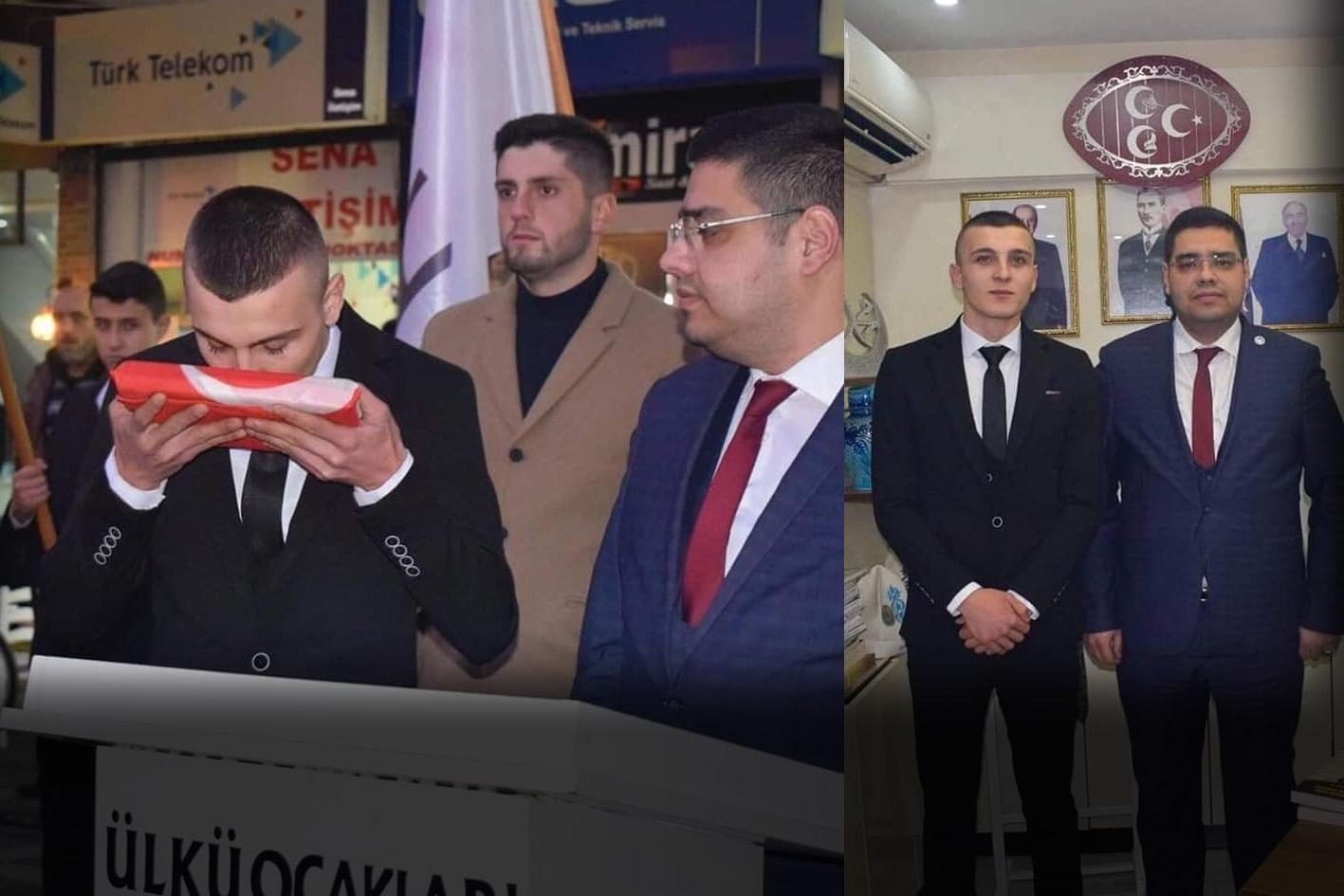 Atama yapılan başkana meydanda görev teslim edildi