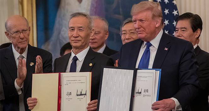 ABD ile Çin arasında ticaret savaşının bitirilmesi yönünde ilk imza