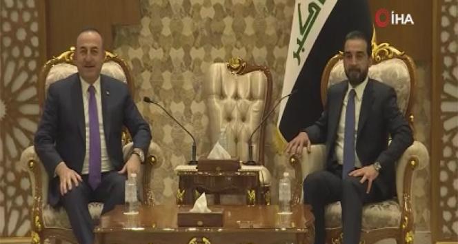 Bakan Çavuşoğlu, Irak Temsilciler Meclisi Başkanı el-Halbusi ile görüştü