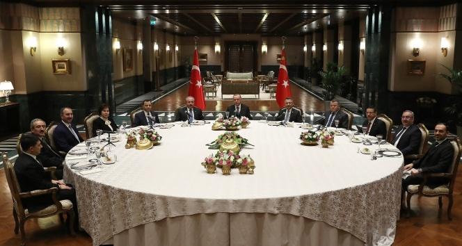 Cumhurbaşkanı Erdoğan, yasama, yürütme yargı organı temsilcileri ile bir araya geldi