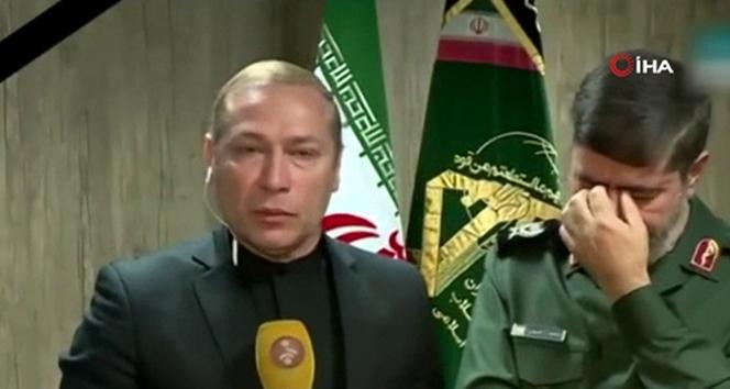 Devrim Muhafızları Ordusu Sözcüsü canlı yayında gözyaşlarına boğuldu