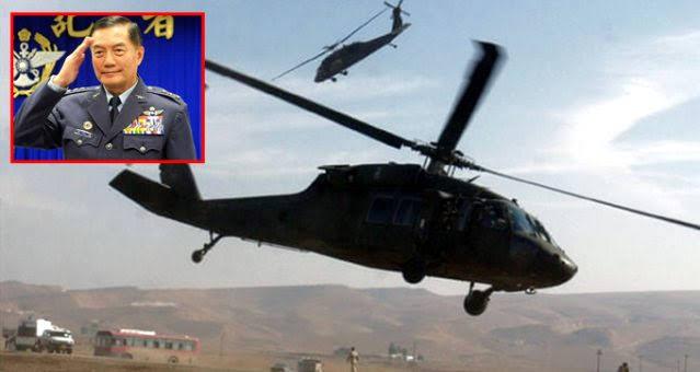 Tayvan'da askeri helikopter düştü: Genelkurmay Başkanı öldü