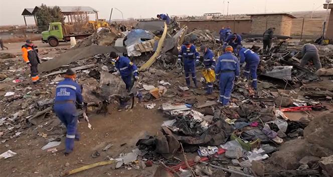 Ukrayna, uçak enkazına ait yeni görüntüler yayınladı