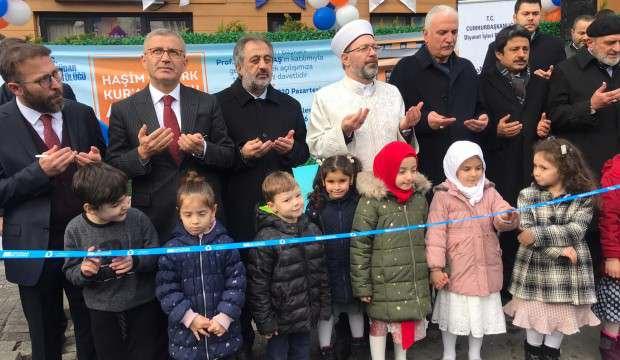 Diyanet İşleri Başkanı Erbaş, Üsküdar'da Kur'an Kursu açılışına katıldı