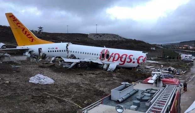 Pistten çıkan uçağın pilotlarıyla ilgili kritik karar!
