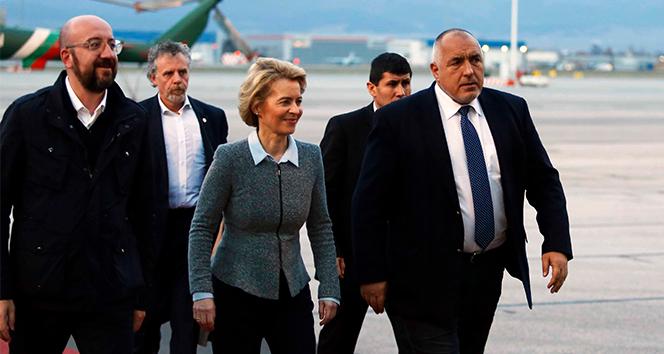 AB liderleri, Bulgaristan Başbakanı Borisov ile Türkiye sınırını havadan inceledi