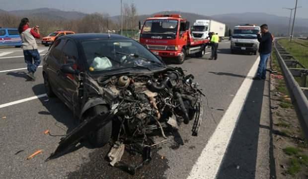 Anadolu Otoyolu'ndaki zincirleme kaza: 4 yaralı