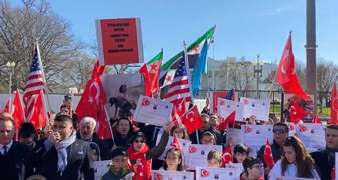 Beyaz Saray önünde, İdlib Şehitlerini anma töreni
