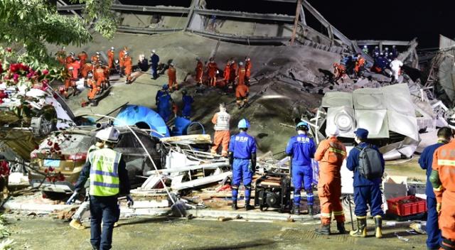 Çin'de çöken karantina otelinin enkazından 49 kişi kurtarıldı