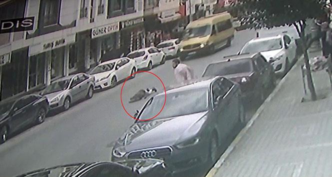 Motosikletlinin çarptığı kadın metrelerce havaya savruldu