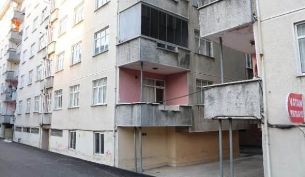 Rize'de yan yatan 4 binaya 'demir direkli' önlem