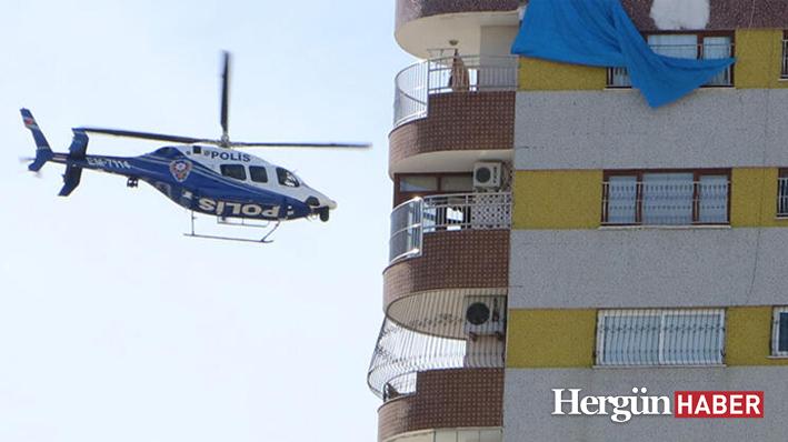 Polisten havadan helikopterle corona virüs uyarısı!