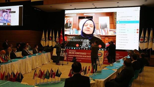 Bakan Selçuk, 1 Mayıs Uluslararası Online Konferansı'nda konuştu