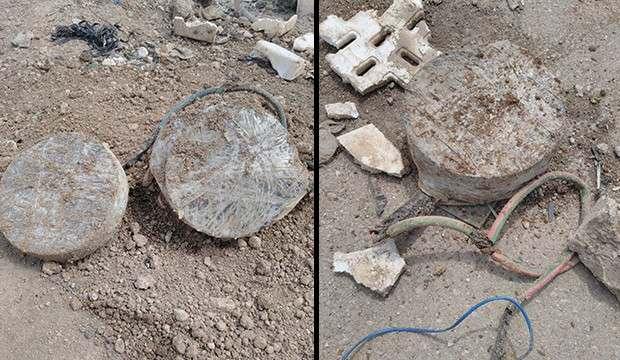 Barış Pınarı bölgesinde teröristlerin tuzakladığı mayın imha edildi