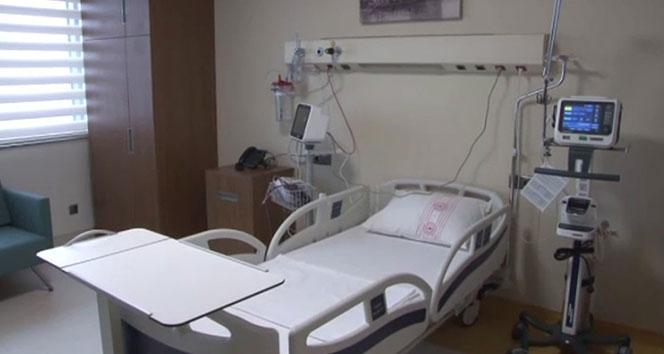 Başakşehir Şehir Hastanesinin yoğun bakım üniteleri görüntülendi