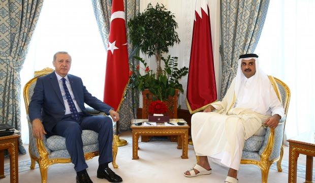 Başkan Erdoğan, Katar Emiri ile telefonda görüştü