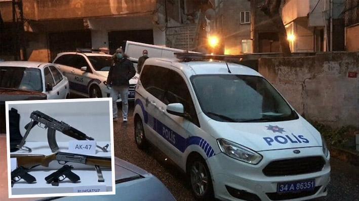 Beyoğlu'nda iki grup arasında kalaşnikoflu çatışma: 11 adrese eş zamanlı operasyon düzenlendi