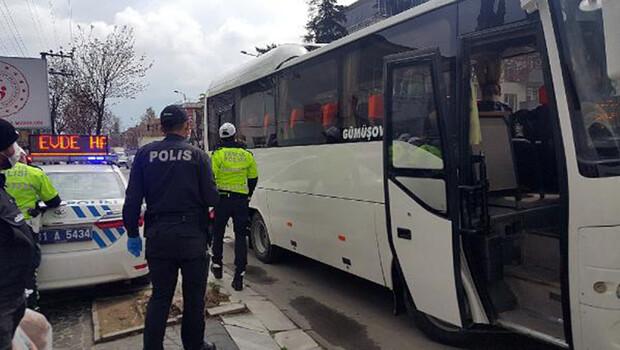 Düzce'de otobüslerde koronavirüs denetimi