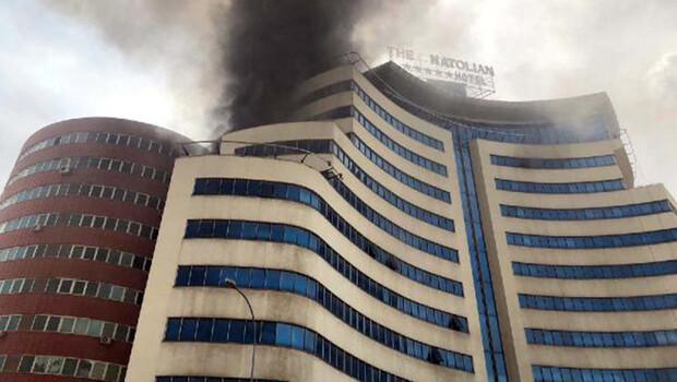 Gaziantep'te boş otelde yangın