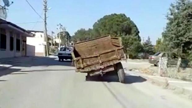 Jant üzerinde tehlikeli yolculuk