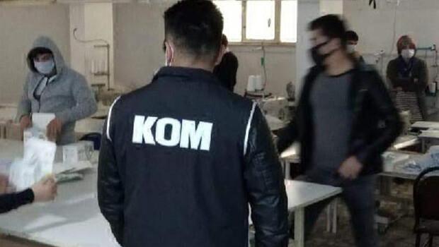 Kocaeli'de izinsiz üretilen 90 bin maske ele geçirildi