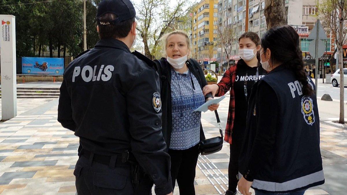 14 yaşındaki kızıyla sokağa çıkan anneden polise şoke eden tepki