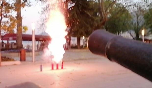 Ramazan topunun yerine ses bombası patlattılar