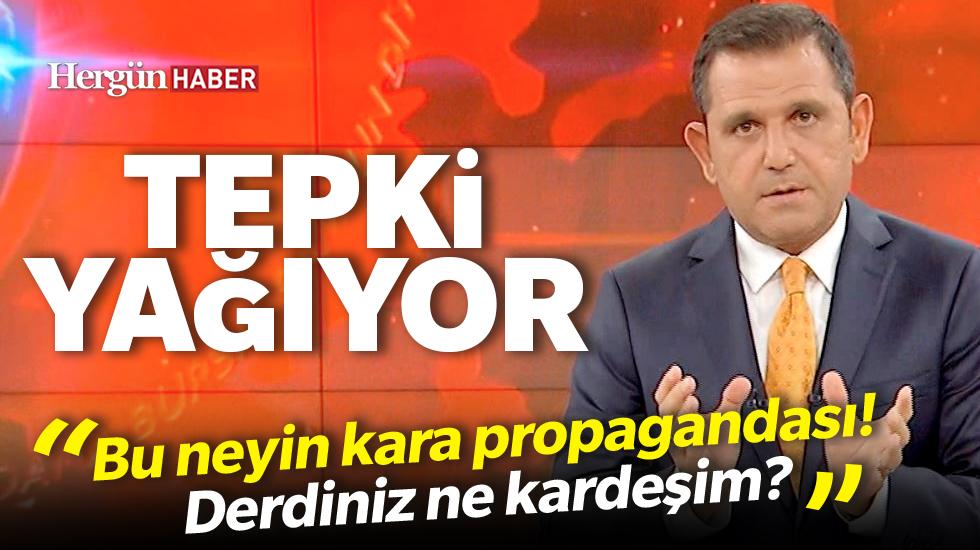 Fatih Portakal'a tepki yağıyor: Bu neyin kara propagandası! Derdiniz ne kardeşim?
