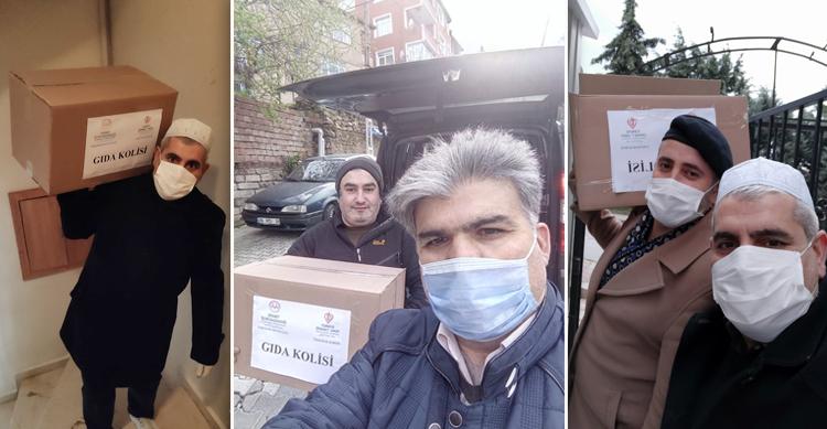Üsküdar'daki din görevlileri, 700 yardım kolisini ihtiyaç sahiplerine ulaştırdı