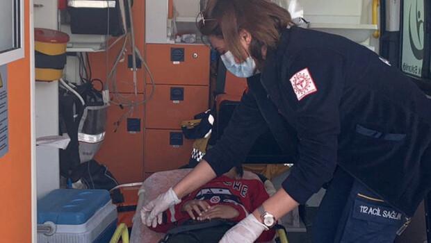 10 yaşındaki kalp hastası tedavi için İdlib'den Türkiye'ye getirildi