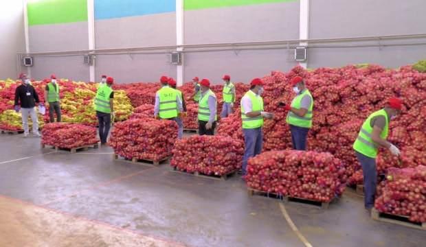16 bin haneye 250 ton patates ve soğan dağıtılıyor