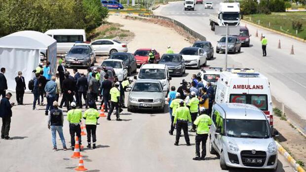 43 ilin geçiş noktası Kırıkkale'de polisten denetim
