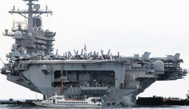 ABD'nin Roosevelt uçak gemisi tekrar denize indi