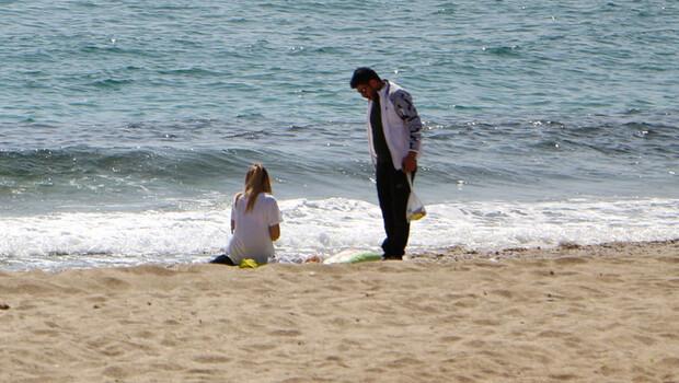 Antalya'da ilginç anlar! 'Yaz amirim yaz hak ettik'