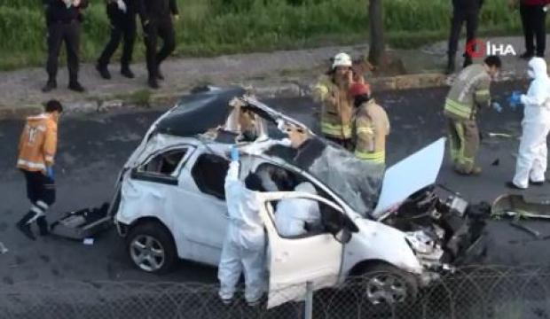 Bağcılar TEM'de kaza! Yan yola fırladı