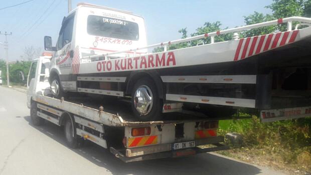 Çekicilerin sürücüleri ehliyetsiz çıktı! 10 bin lira ceza uygulandı