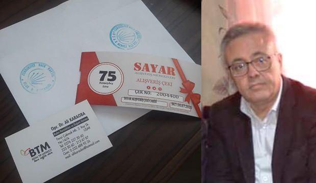 CHP'de yardım skandalı! Zarfların içine kartvizitini bıraktı