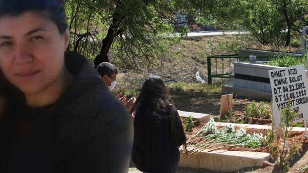 Emine Bulut'un kızı annesinin mezarını ziyaret etti