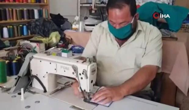 Filistinli terzi diktiği maskeleri ücretsiz dağıtıyor