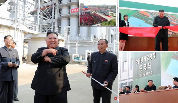 Fotoğrafları yayınlandı: Öldüğü söylenen Kim Jong-un gübre fabrikası açtı