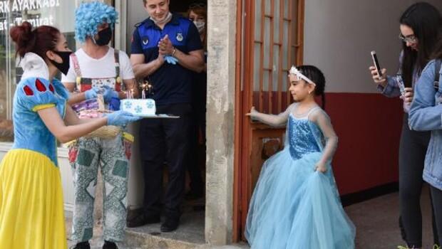 Görme bozukluğu olan Ezgi'ye doğum günü sürprizi