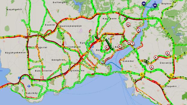 İstanbul trafiğinde yoğunluk dikkatlerden kaçmadı! Durma noktasına geldi…