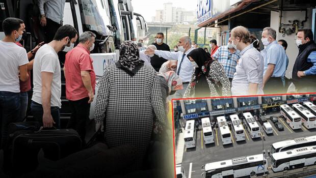 İstanbul'dan onlarca otobüsle yola çıktılar