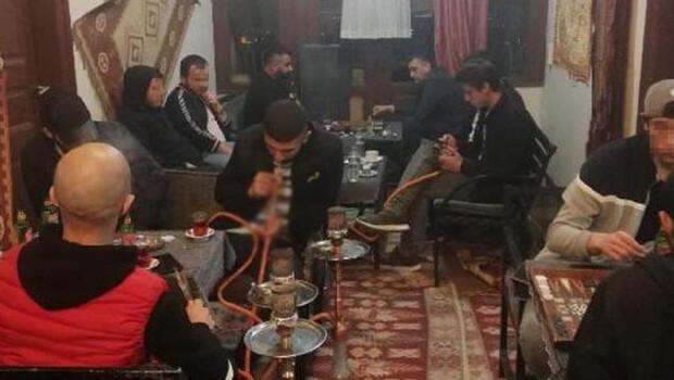 Kafede yakalanan 18 kişiye, 56 bin 700 TL ceza