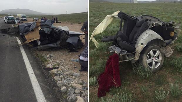 Konya'da feci kaza! Araç ikiye bölündü…