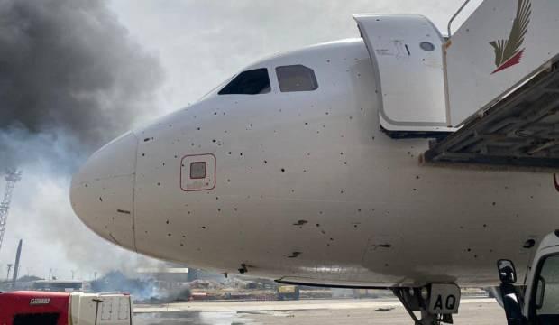 Libya'da Mitiga Havaalanı bombardımanında 2 yolcu uçağı hasar gördü