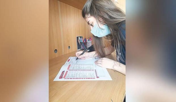 Öğrencilerin maske çilesi! Sınav kara kara düşündürüyor