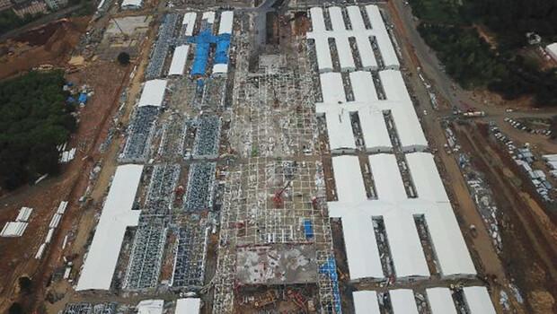 Sancaktepe'deki hastanenin son durumu havadan fotoğraflandı